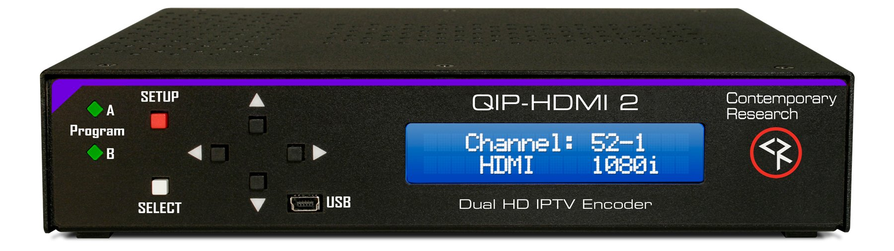 Contemporary Research Co. CRC-QMOD-SDIHDMI  Dual-channel RF or IPRV Encoder with SDI and HDMI Inputs  CRC-QMOD-SDIHDMI