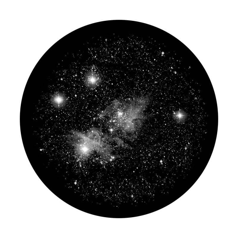 "SuperResolution Glass Gobo with ""Star Galaxy"" Image Pattern"