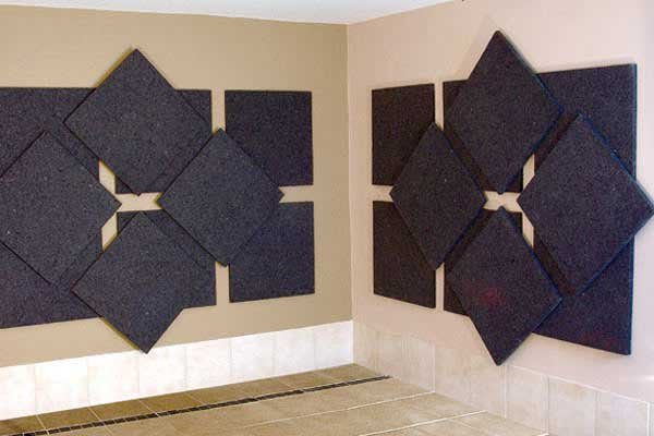 Charcoal Gray Acoustic Panels 2`x2`x1""