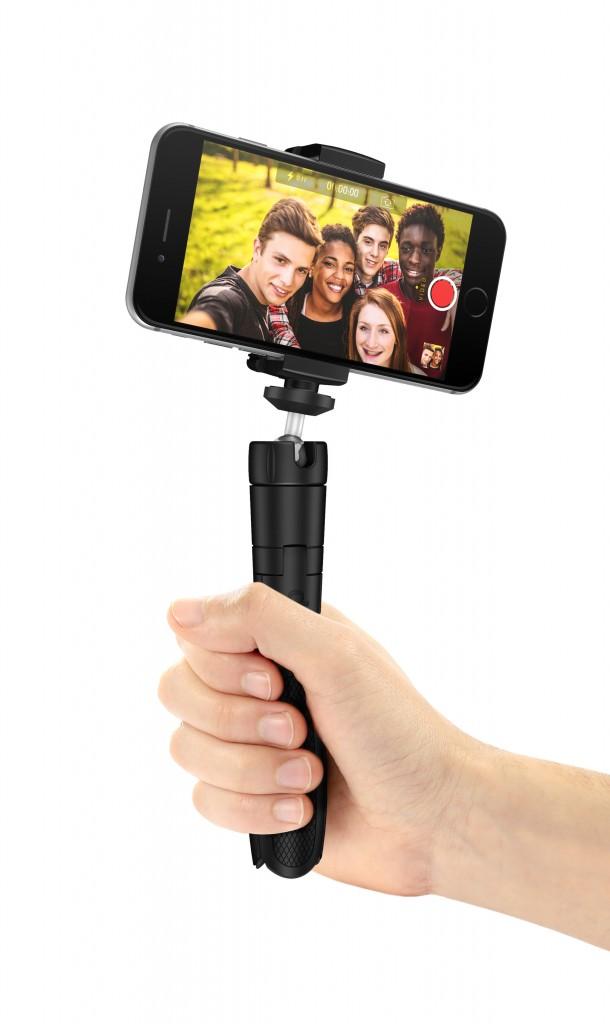 IK Multimedia iKlip Grip 4-in-1 Tripod, Tripod Adapter, Monopod and Video Handle for Smartphones IKLIP-GRIP