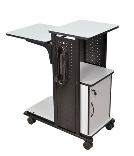 Mobile Presentation Station with Locking Security Cabinet