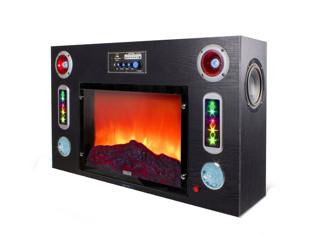 Electric Fireplace Bludetooth Entertainment Center