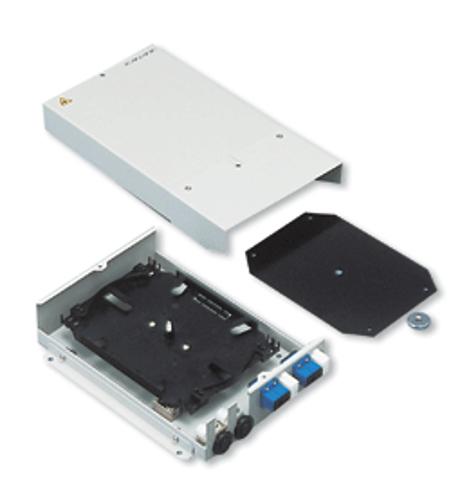 Hybrid Fiber-Optic Splice Enclosure for 6 Cables