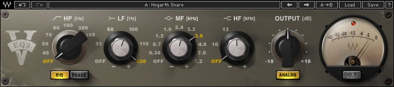 Waves V-EQ3 3-Band Equalizer Plugin VEQ3TDM