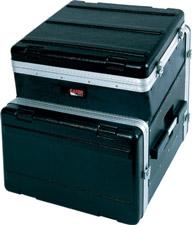 Slant Top Console Rack Case (10 RU Top, 8 RU Bottom)