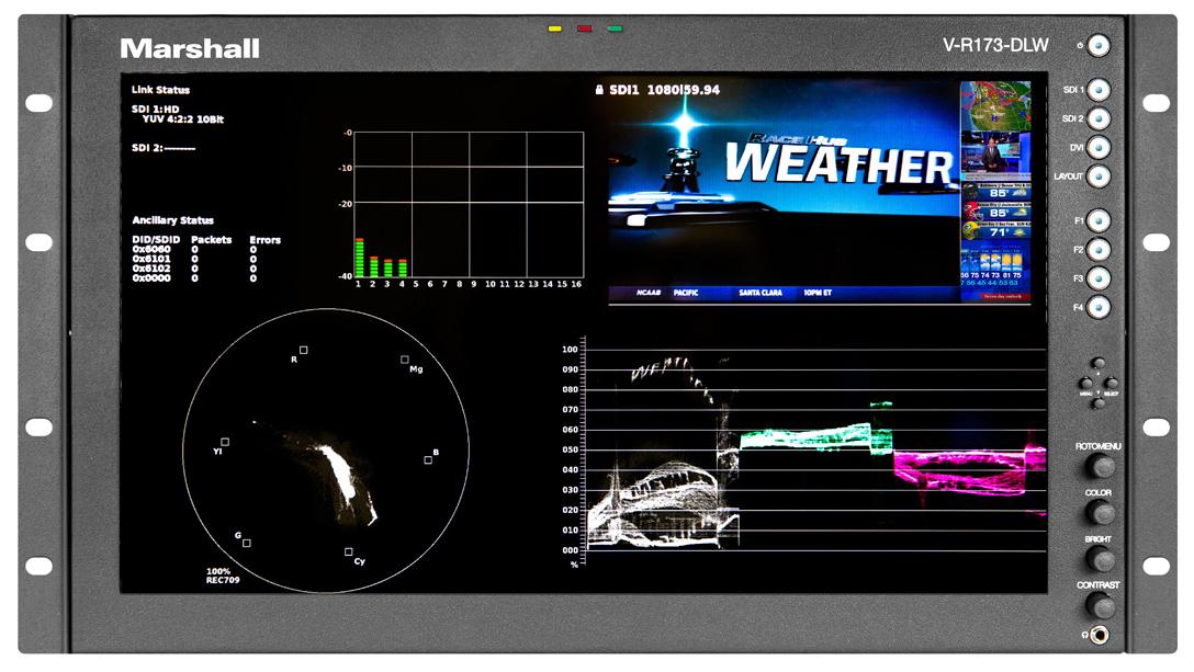 "17"" Native HD Resolution IMD LCD Rack Mount Monitor"
