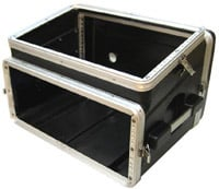 Slant Top Console Rack Case (6 RU Top, 4 RU Bottom)