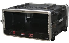 4 RU Powered Lockable Rack Case (with Wheels)