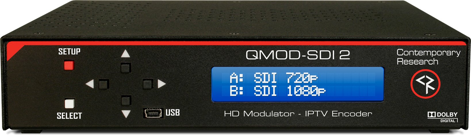 SDI Dual channel Modulator and Composite In and Agile QAM Output