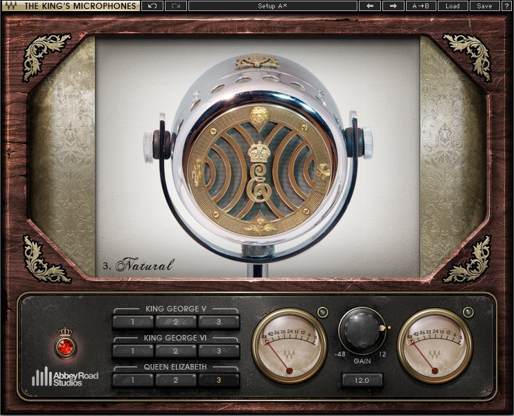 Waves The King's Microphones [DOWNLOAD] Microphone Plugin ABRDKMICSG