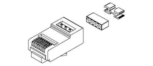 25-Pack of Field Crimped RJ45 Modular Connectors