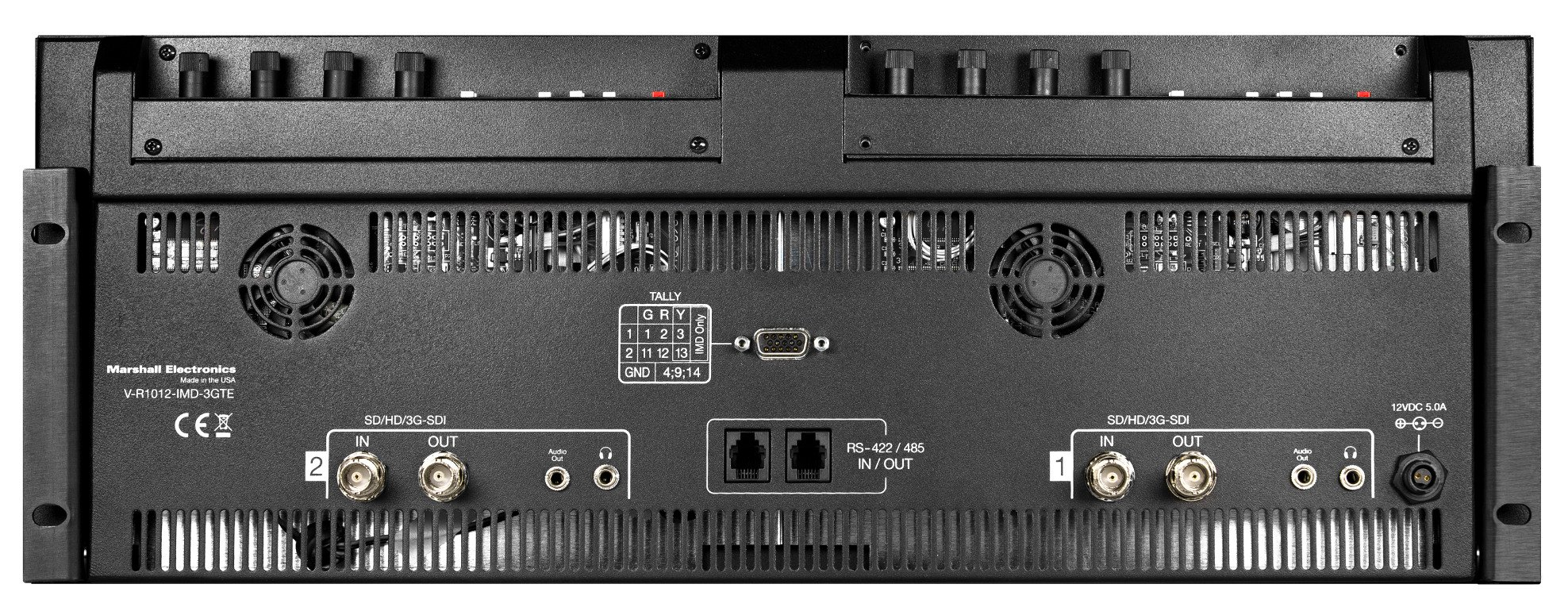 """Dual 10.1"""" 3G HD Rackmount Monitor with IMD Function"""