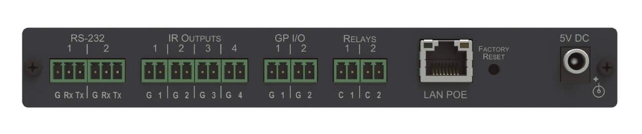 10–port Serial, IR, GPI/O and Relay, PoE Control Gateway