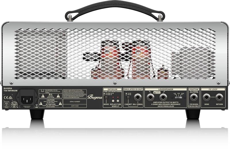 50-Watt Cage-Style 2-Channel Tube Amplifier Head