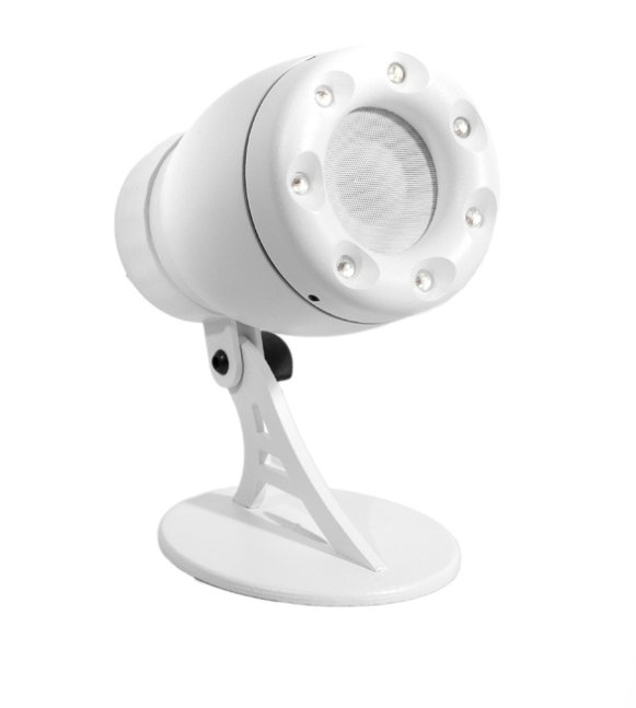 "2"" PointSource Speaker with Integrated RGB LEDs, White"