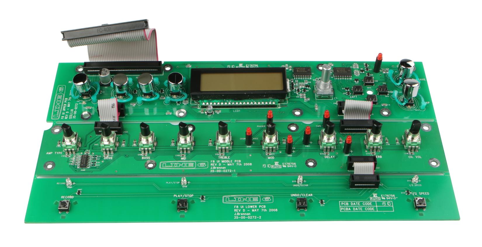 Upper UI PCB Assembly for JM4