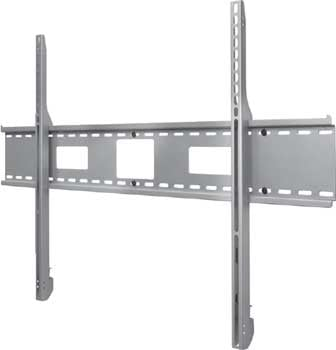 """Flat Wall Mount for X-Large 61"""" - 102"""" LCD and Plasma Screens, Universal, Black (Silver shown)"""