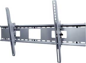"Tilting Wall Mount for Large 42"" - 71"" Plasma and LCD Screens, Universal, Black (silver shown)"