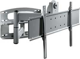 """Articulating Wall Arm for 37"""" - 60"""" Plasma and LCD with Universal Adapter Plate, Silver"""