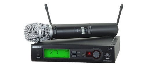 Wireless Microphone System with SLX2/SM86 Handheld Transmitter
