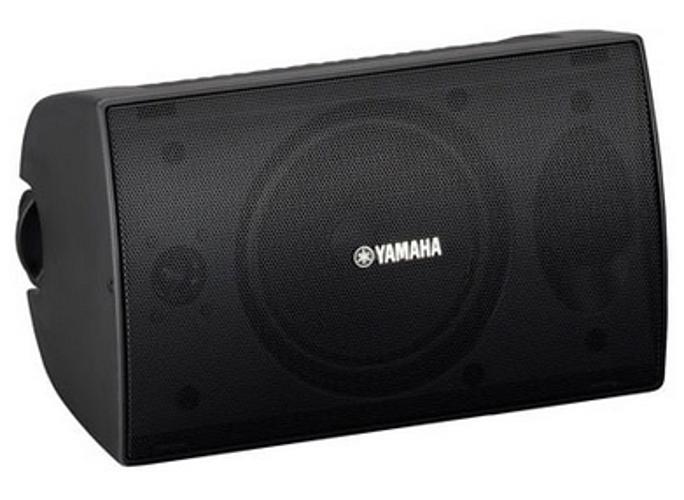 1 Pair of 70V Surface Mount Speakers in Black - 50 Watt @ 8 Ohms