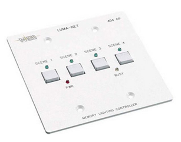 Remote Memory Control Panel with 4 Programmable Scenes, Controls 100 Dimmer Channels