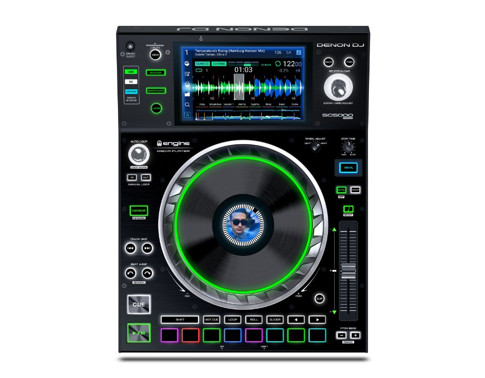 Professional DJ Performance Player with 7 Inch Multi-Touch Display