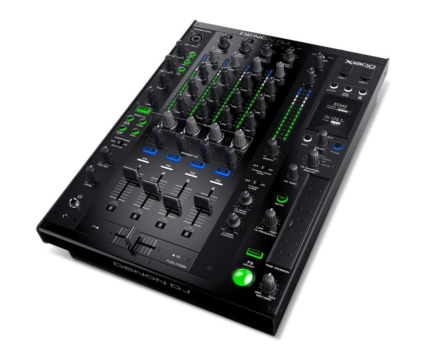 Professional 4-Channel DJ Mixer with Built-In FX and Smart HUB