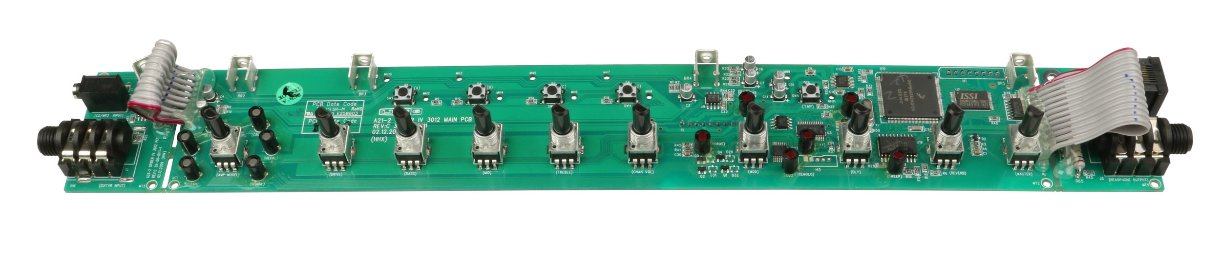 Guitar/mp3 Input PCB for Spider IV Guitar Amplifier