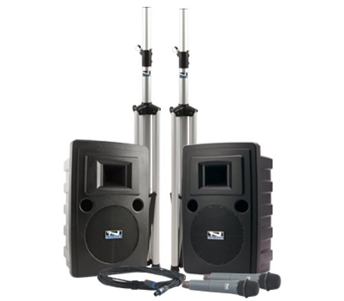 LIB-8000CU2 with Built-In Bluetooth, CD/MP3 Combo Player, and Two Wireless Receivers