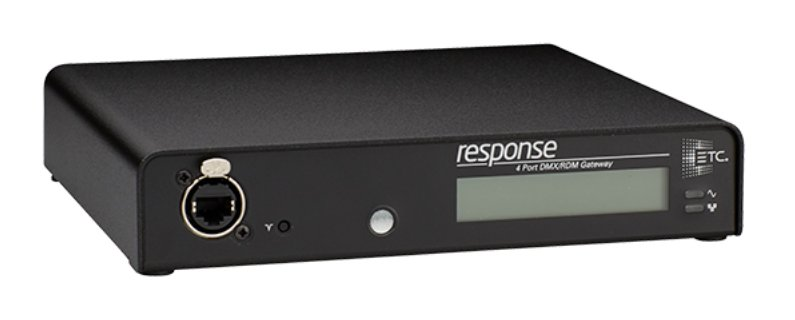Response 4-port DMX/RDM Gateway with 1 DMX Input and 3 DMX Outputs