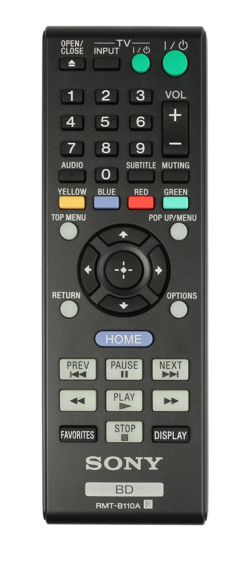 BDP-BX58 Remote Control