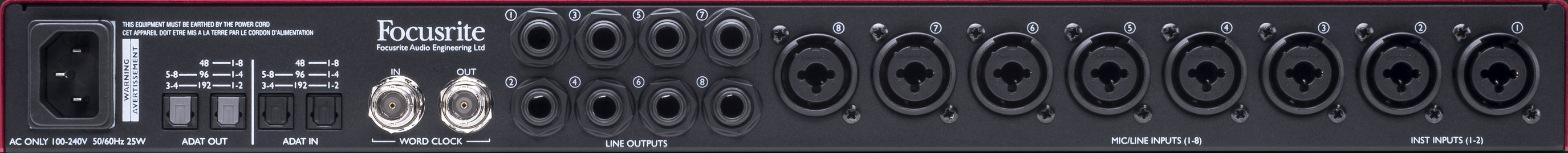 8-Channel Mic Pre with A-D/D-A Conversion and Analogue Compression