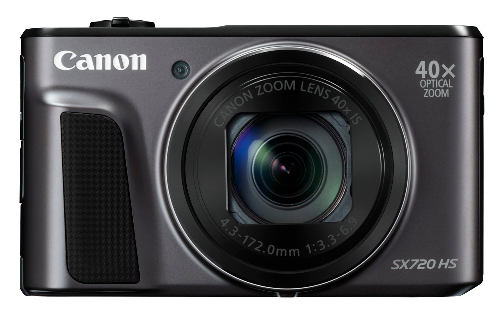 20.3MP Compact Digital Camera with 40x Optical Zoom in Black