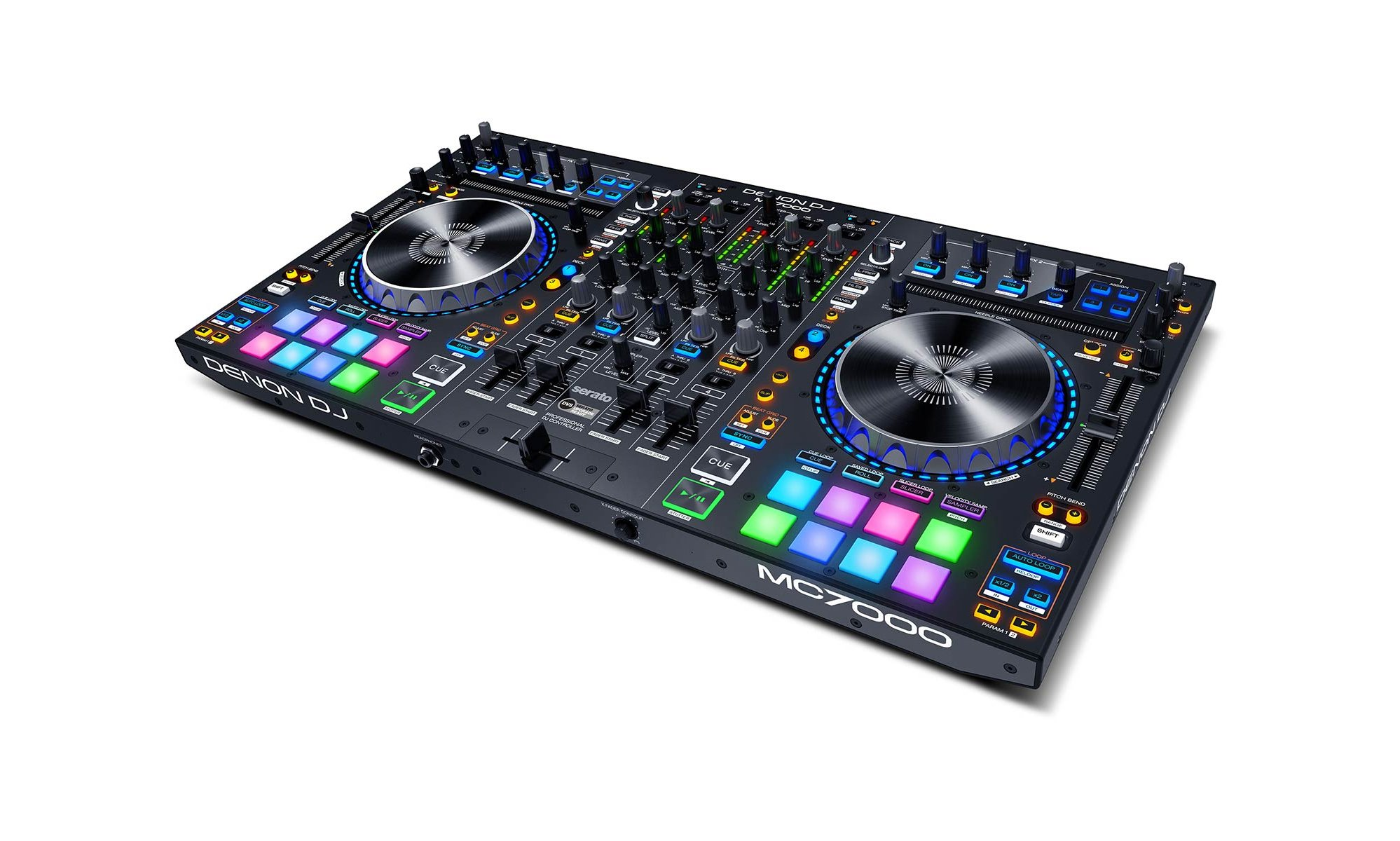 4-Channel DJ Controller with Serato and Dual Audio Interface