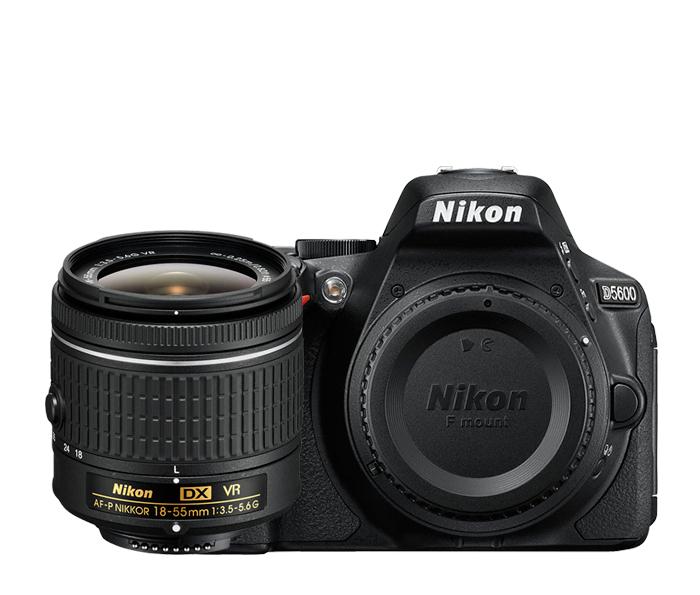 Nikon D5600 24.2MP DX Camera with AF-P DX 18-55 VR Lens Kit 1576-NIKON