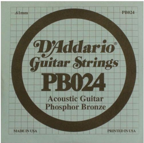 D`Addario PB024 .024 Phosphor Bronze Acoustic Guitar String PB024
