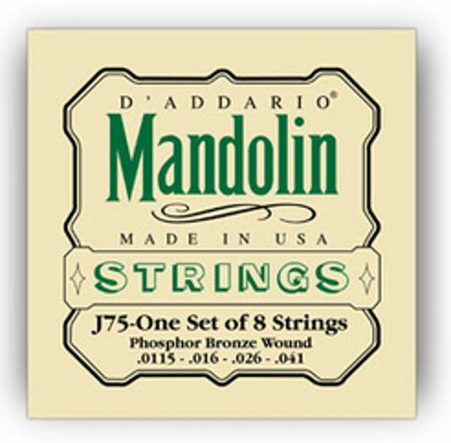 D`Addario J75 Medium/ Heavy Phosphor Bronze Mandolin Strings J75