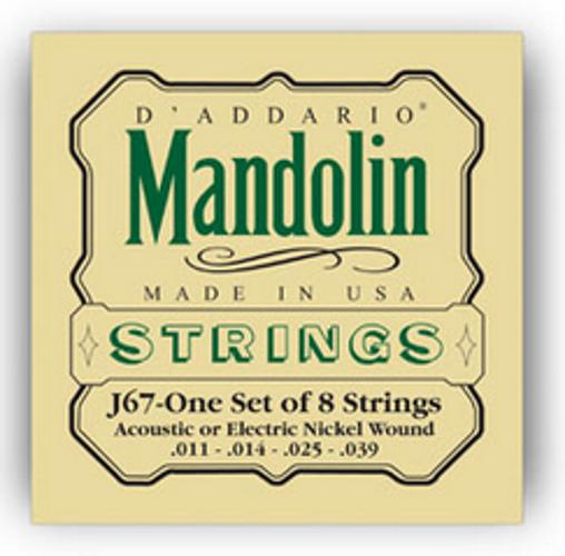 D`Addario J67 Medium Nickel Mandolin Strings J67