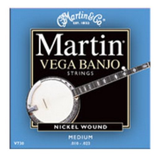 Vega Banjo Medium Nickel Wound Strings .010-.023