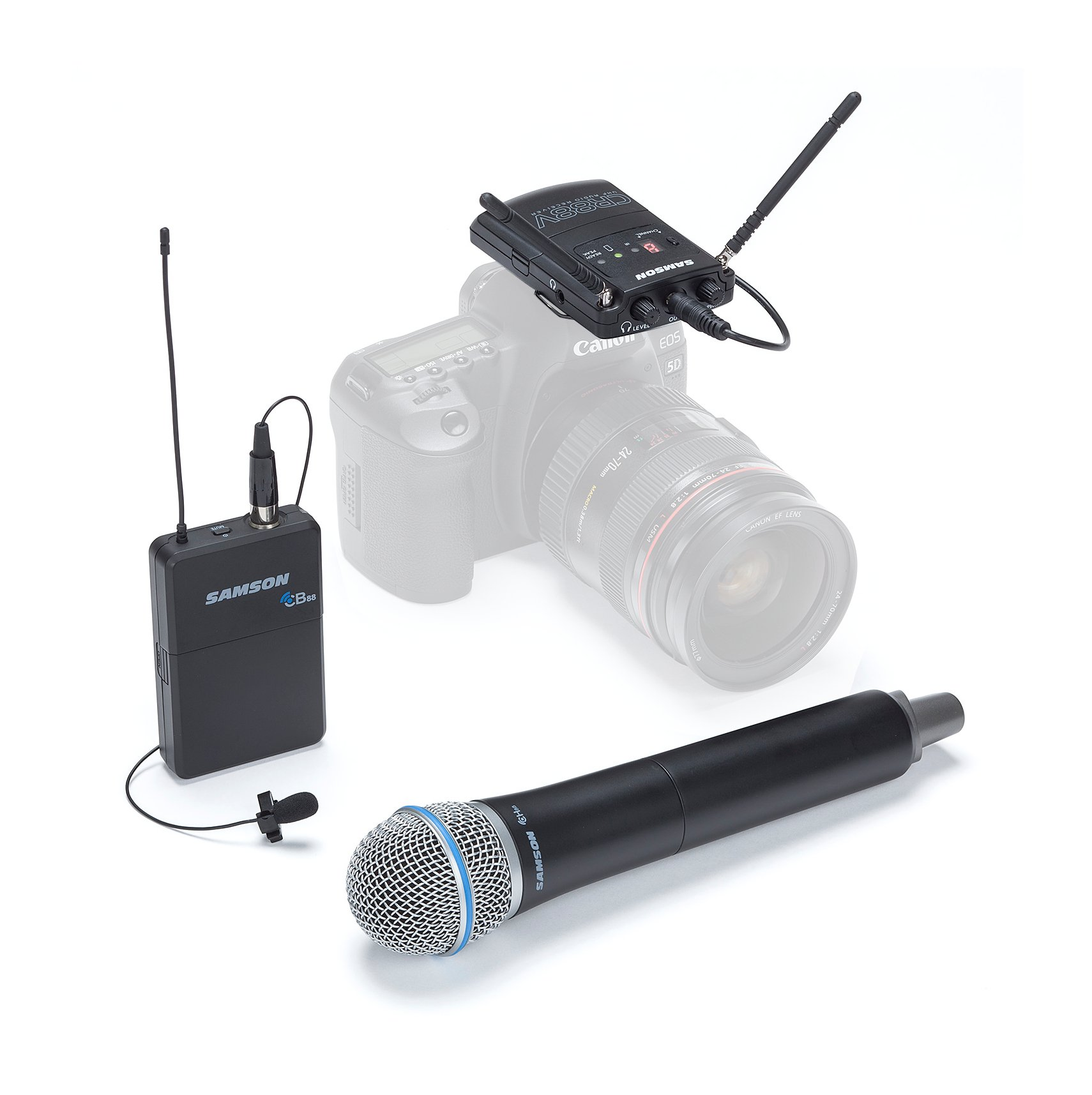 K Band Wireless Combo Microphone System