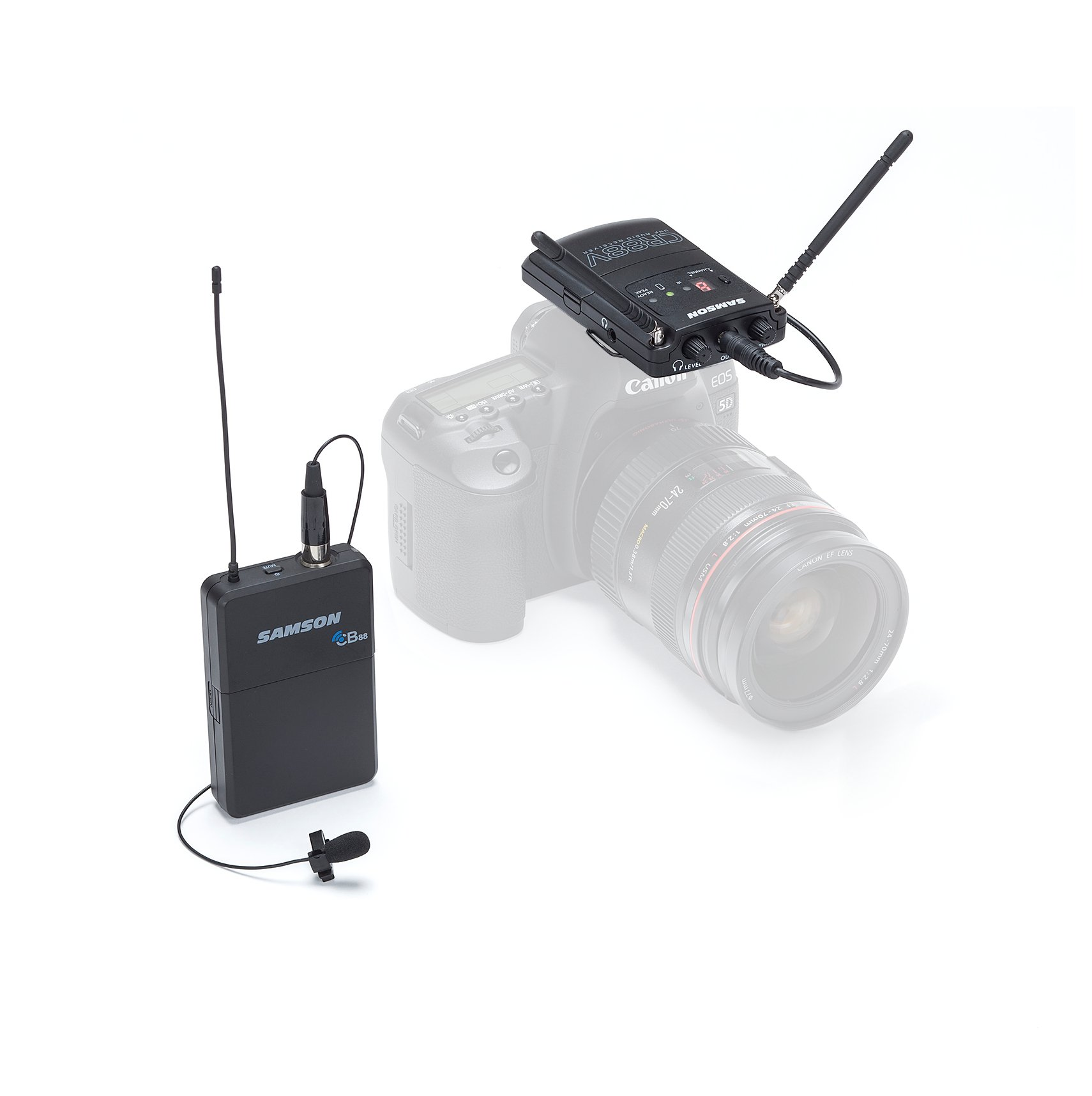 K Band Wireless Microphone System with LM10 Lavalier Microphone