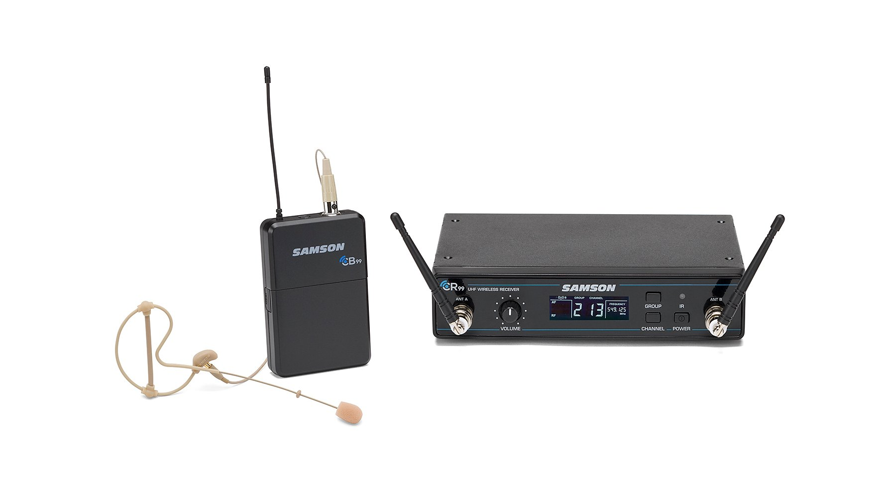 Concert 99 Wireless Headworn System, D Band Model 542 - 566 MHz