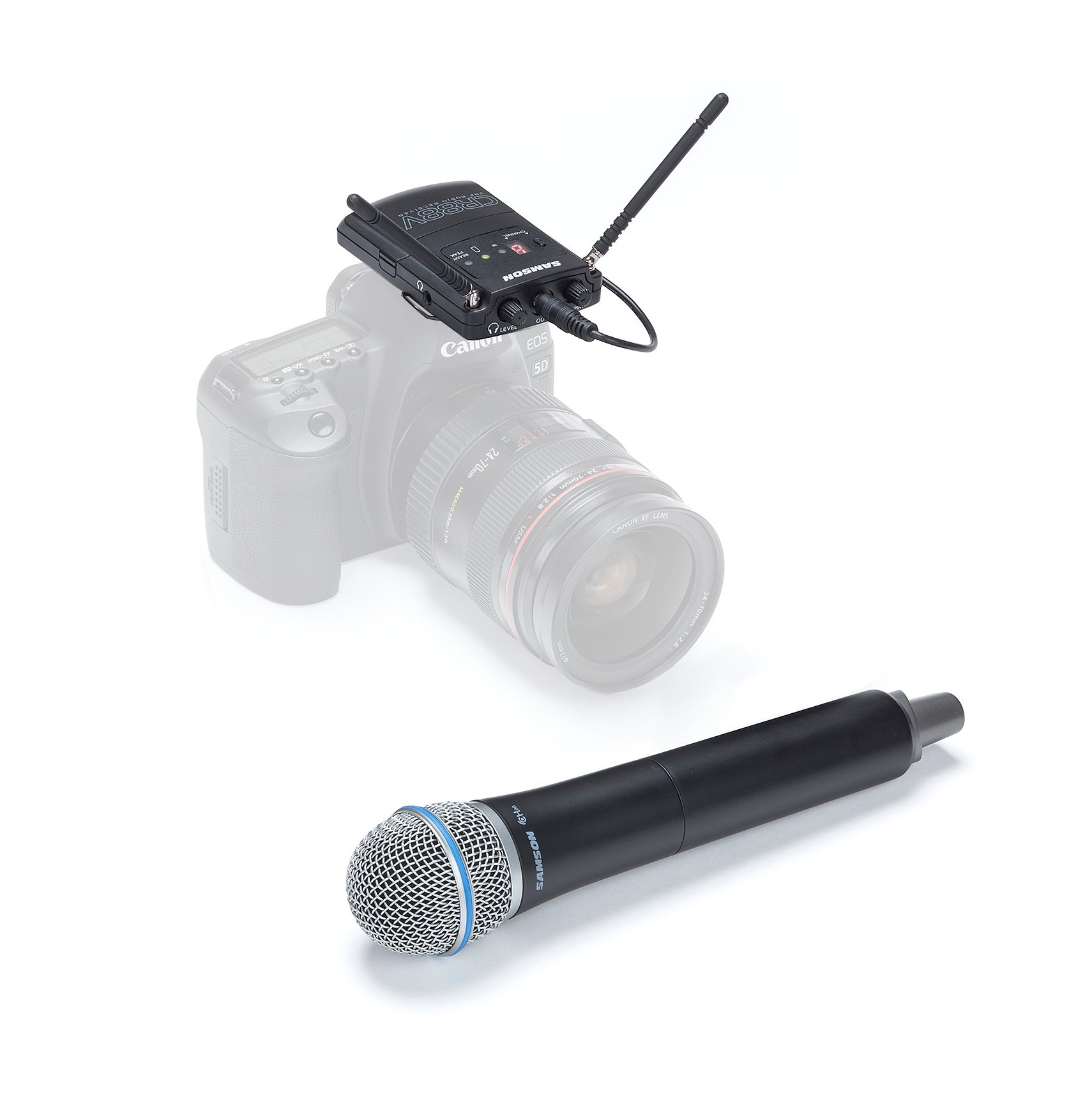 D Band Wireless Microphone System with Q8 Handheld Microphone/Transmitter