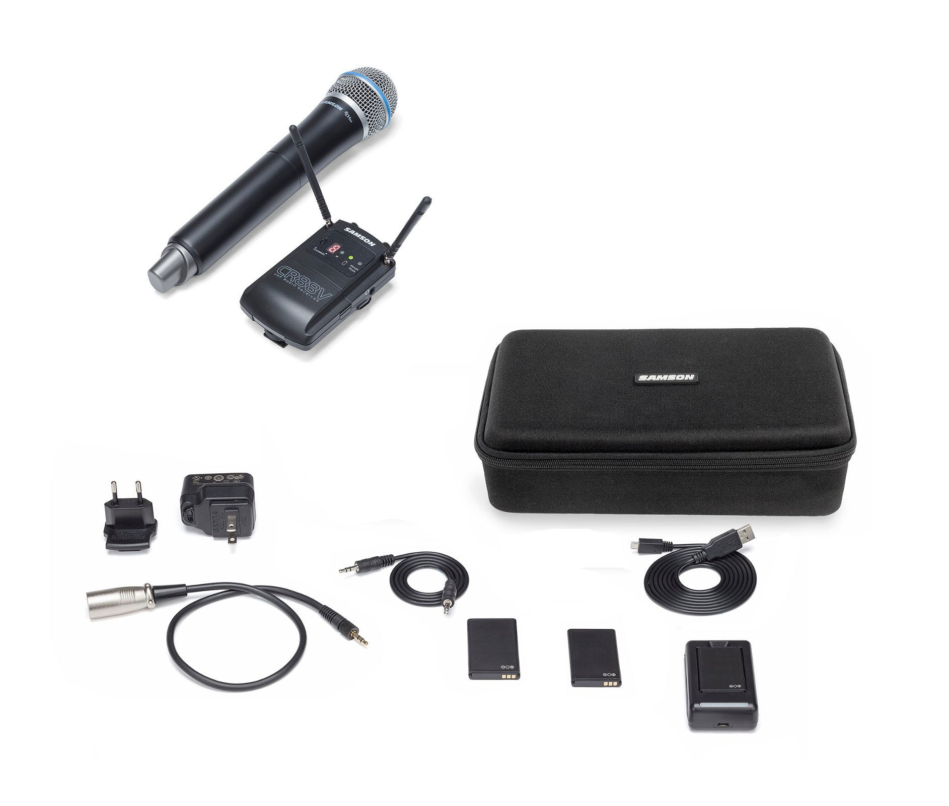 Samson Concert 88 Camera (Handheld) K Band Wireless Microphone System with Q8/CH88 Handheld Microphone/Transmitter SWC88VHQ8-K