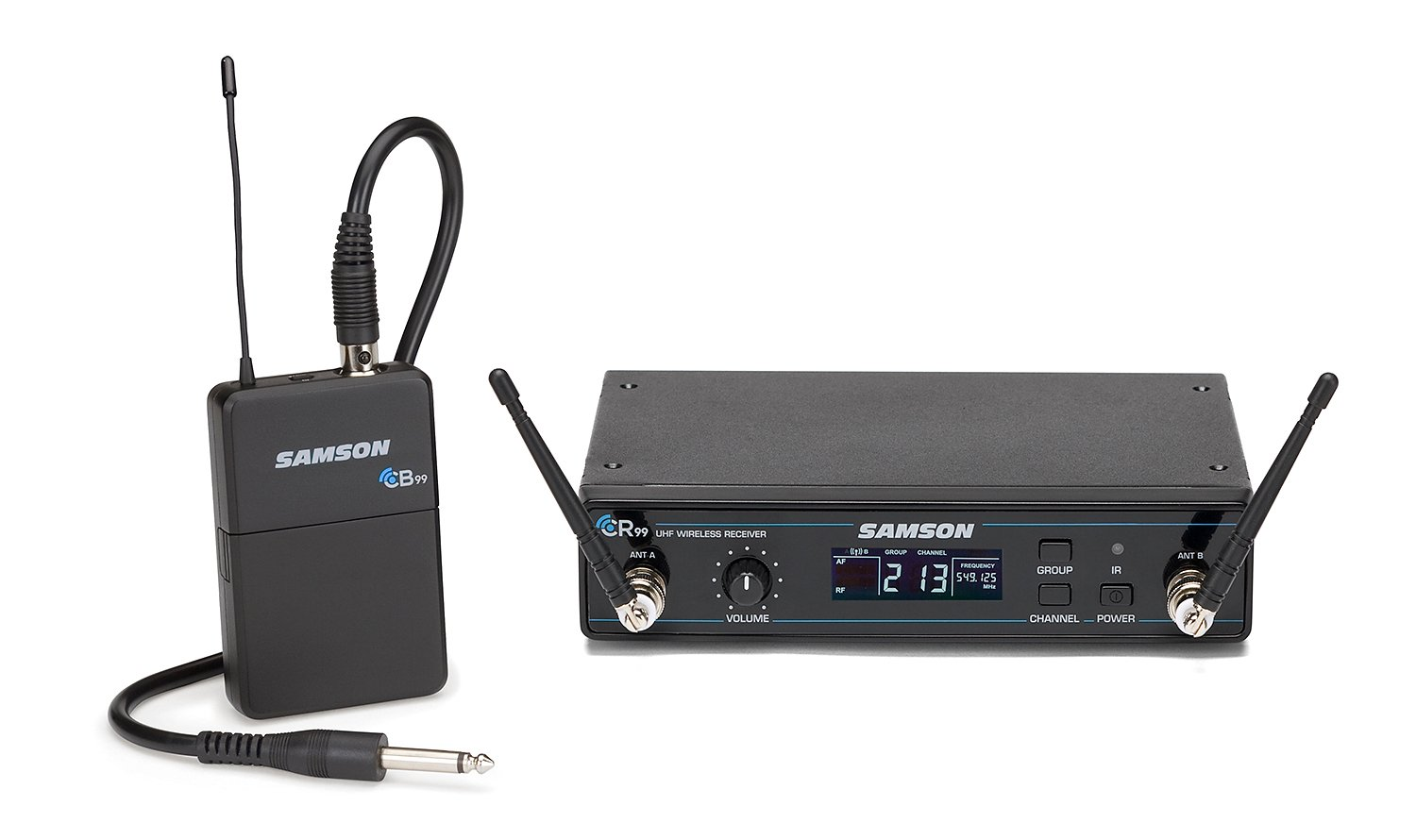Frequency-Agile UHF Wireless System Guitar System, K Band Model 470 - 494 MHz