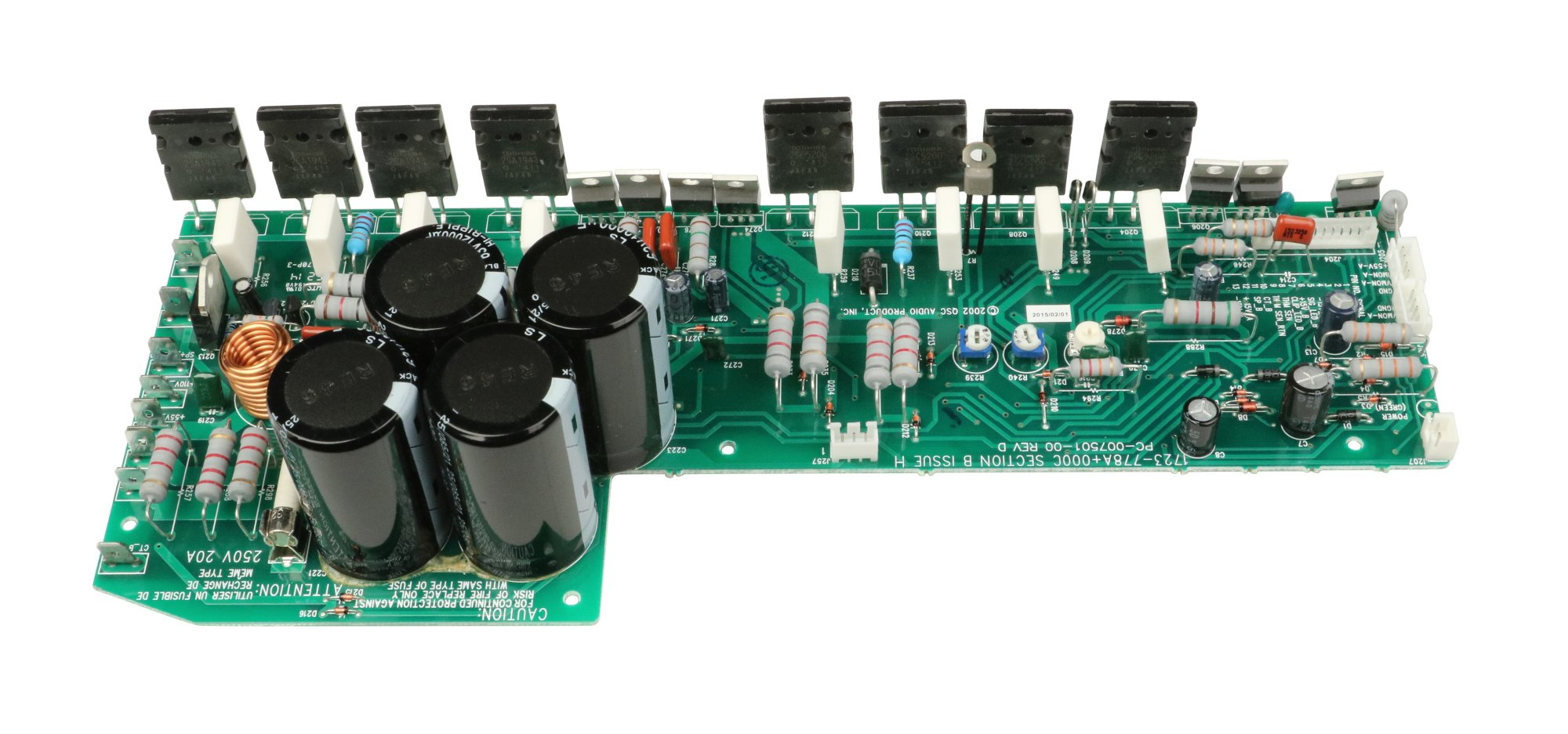 Top Main Pcb Assembly For Isa750 And Isa800ti By Qsc Wp 000826 00 Protection Circuit