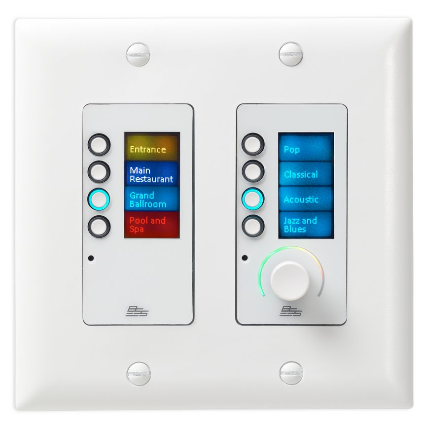 Ethernet Controller with 8 Buttons and Volume Control, White