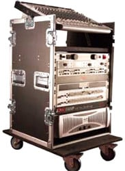 ATA Tour Style Pop-Up Console Rack - 10RU Top, 16RU Front & Rear
