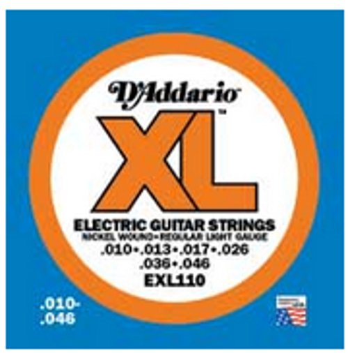 D`Addario EXL110-10P 10 Pack of Regular Light XL Electric Guitar Strings EXL110-10P